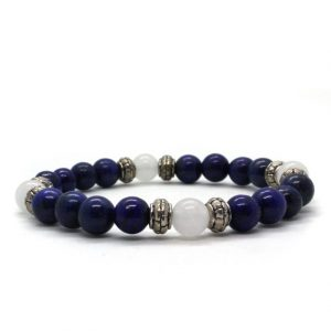 lapis lazuli lumikvartsi rannekoru